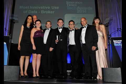 TechAwards 2014 Most Innovative Use of Data - Broker: JLT Towers Re